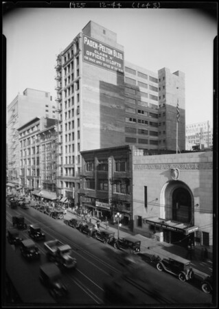 Side of Paden-Pelton building, changed now to Silver Smith's building, Los Angeles, CA, 1925