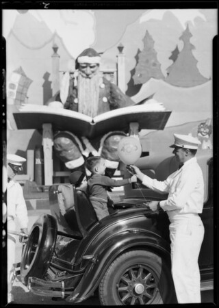 Publicity at Shell Christmas station, Shell Oil Co., Southern California, 1930