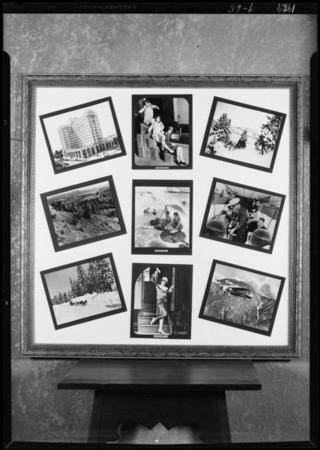 Group of photographs in frame, Southern California, 1929