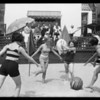 Chorus girls, etc., Harry Carroll's home, Santa Monica, CA, 1929