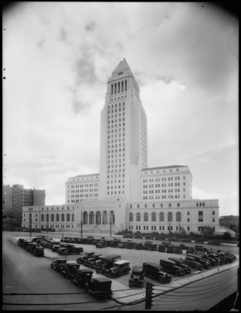 City Hall and clouds, 200 North Spring Street, Los Angeles, CA, 1931