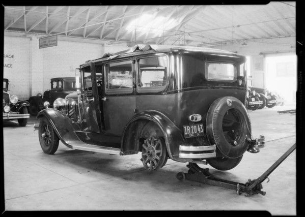 Franklin sedan, A.A. Ancel, owner, Southern California, 1931