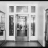 Glass doorway, Hollywood Hospital, Southern California, 1931