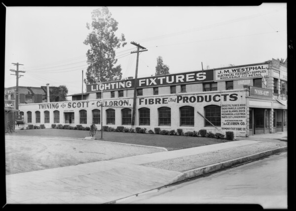 Interior & exterior factory, Twining Scott Co., Southern California, 1930