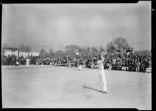 Tennis championships at Griffith Park, Los Angeles, CA, 1931