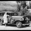 Studebaker and Corliss Palmer, Southern California, 1931