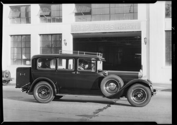Shop & cars, Southern California, 1931
