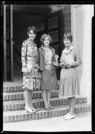 Publicity shots, Immaculate Heart College, Southern California, 1929