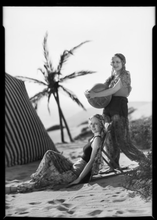 Turkish bathing suit outfits, Southern California, 1931