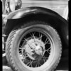 Motor head and wheel, Southern California, 1931