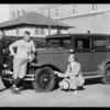 Coach Jones and his car, Southern California, 1931