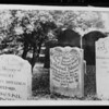 Tombstone taken by Mrs. Whittington, Southern California, 1925