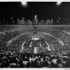 Los Angeles Memorial Sports Arena, interior view, boxing match in progress