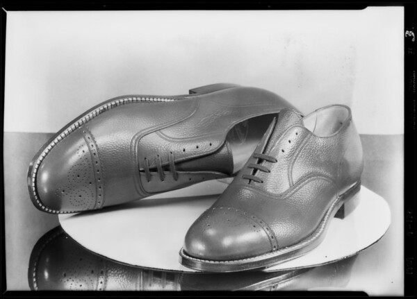 Mens shoes, May Co., Southern California, 1929