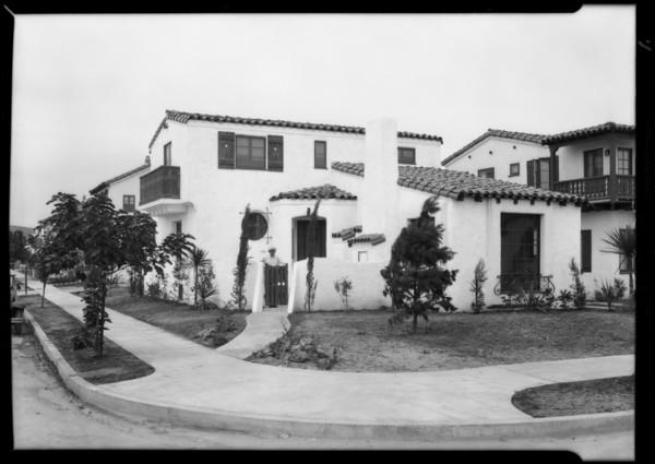 Interior of McComb house in Leimert Park, Los Angeles, CA, 1929