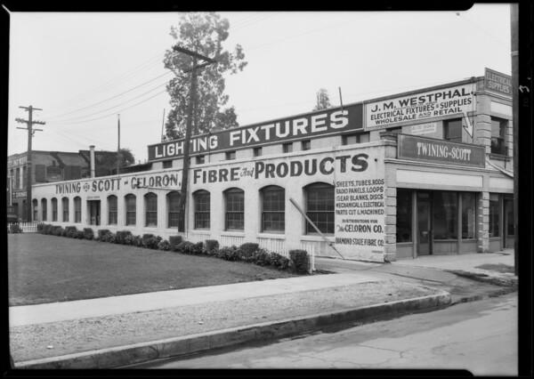 Interior & exterior factory, Twining Scott Co., Southern California, 1930