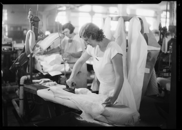 Hand ironing, Home Service Corporation, Southern California, 1931