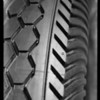 Tire and close-up of tread, Western Auto Supply, Southern California, 1931