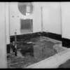 Hospital cement finish, Los Angeles, CA, 1931