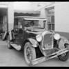 Dodge car at white garage on Cahuenga Boulevard, Los Angeles, CA, 1930