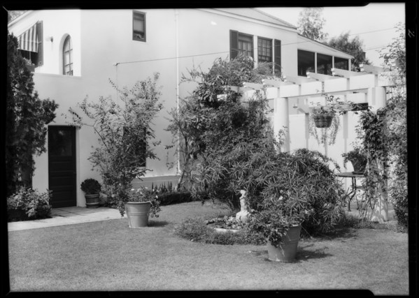 Exteriors of Hunt estate, #3 Berkeley Square, Los Angeles, CA, 1929