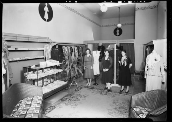 Dress shop, Hattem's Market building, Southern California, 1931