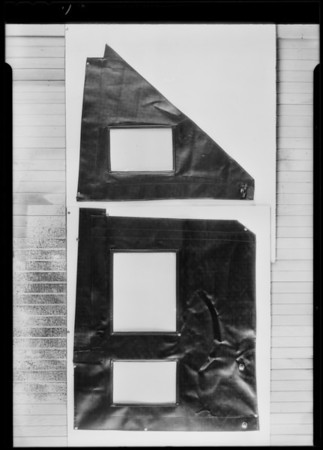 Side curtains, National Automobile Top Co., Southern California, 1930