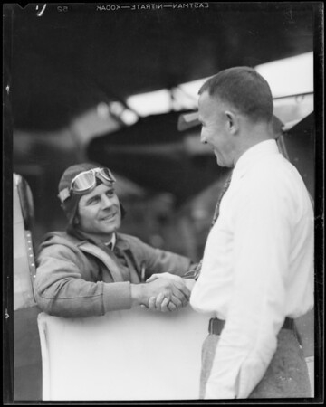 Jimmy Doolittle and Laird ship, Southern California, 1931