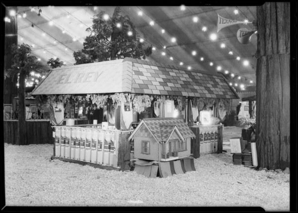 Booth at land show, Southern California, 1930