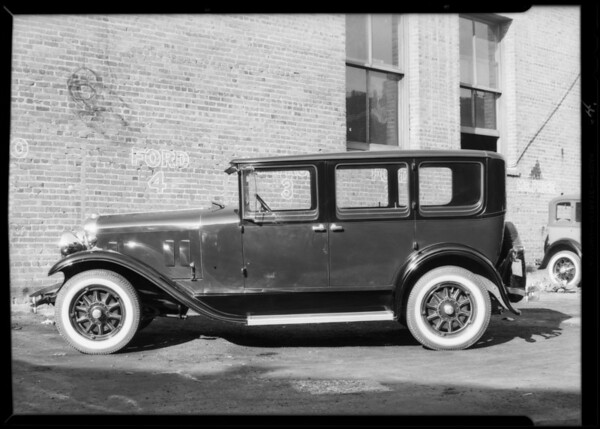 Buick & Franklin cars, 'beauty under the fenders', Southern California, 1930