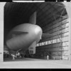 Goodyear blimp in hangar for California Constructor, Southern California, 1929