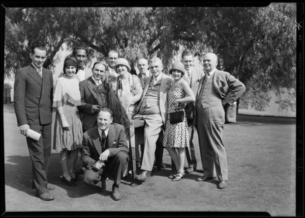 Hollywood breakfast club, Southern California, 1929