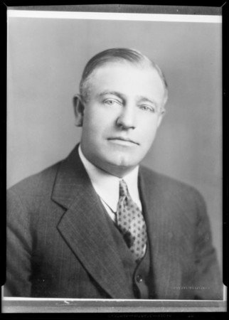 Portrait, Councilman Howard Davis, Southern California, 1931