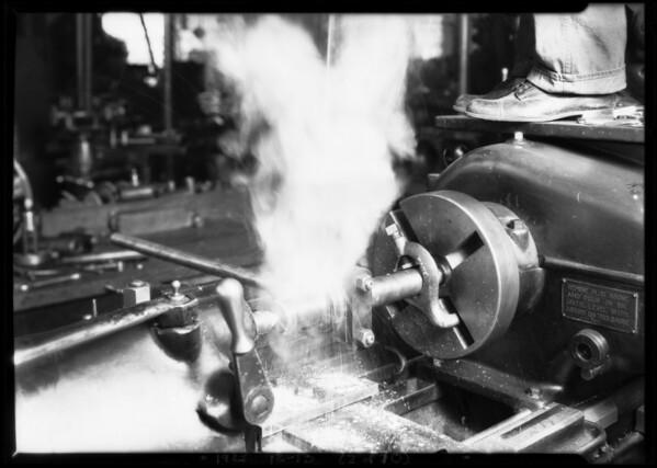 Bearing demonstration at Regan Co., San Pedro, Los Angeles, CA, 1925