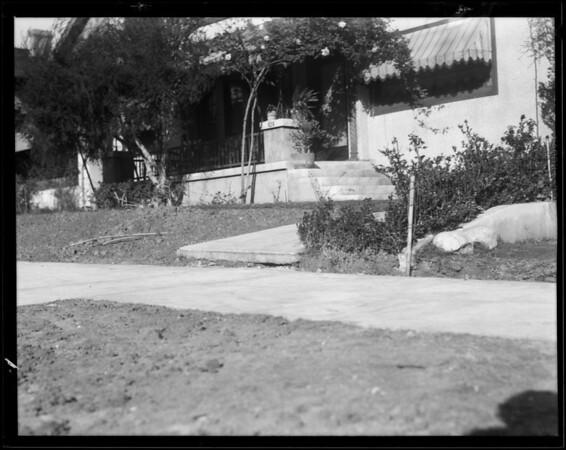 Sidewalk and entrance walk, 826 South Berendo Street, Los Angeles, CA, 1931