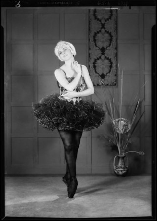Celcelia May in dancing poses, Southern California, 1929