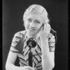 Woman in lingerie and at phone, Home Service Corporation, Southern California, 1931