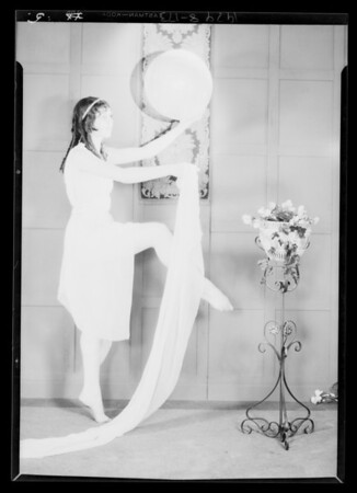 Miss Celia Mae Fischer, toe dancer, etc., Southern California, 1929