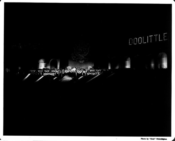 """Nighttime event, """"Doolittle,"""" at the Coliseum in Exposition Park"""