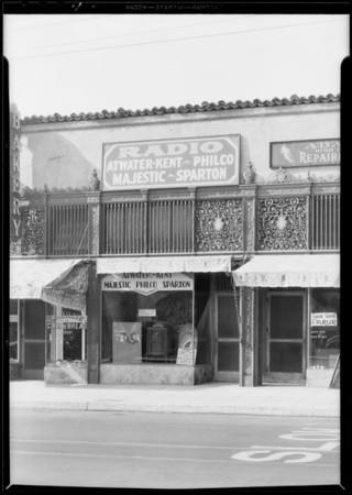 Radio store, 3607 West 3rd Street, Los Angeles, CA, 1930