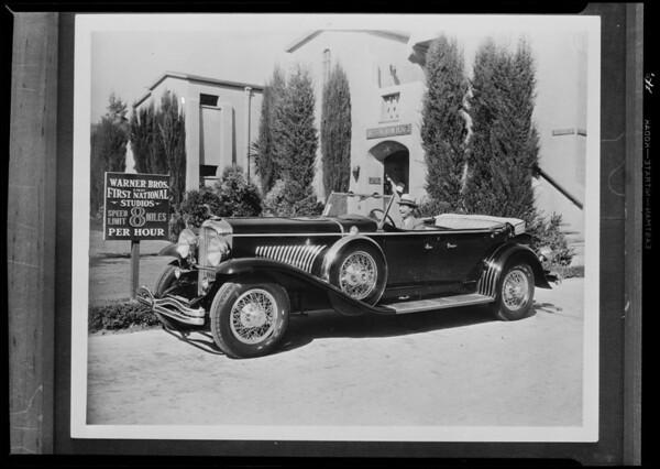 Joe E. Brown, McDonald Dootson Tire Co., Burbank, CA, 1931