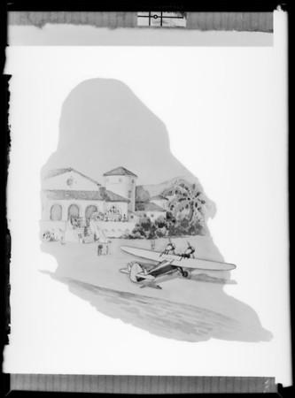 Plane on beach, Douglas Airplane Co., Southern California, 1931