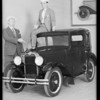 New Austin car, Austin - Los Angeles Co. Incorporated, Southern California, 1930