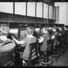 Switchboard operators, Broadway Department Store, Los Angeles, CA, 1925