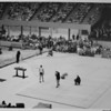 Los Angeles Sports Arena, interior view, Memorial Day dedication ceremony, track and field demonstration