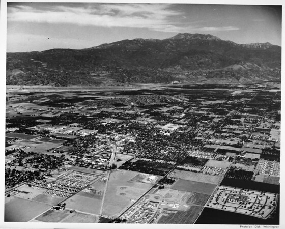 Aerial view of Hemet in Riverside County, California