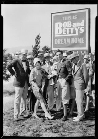 Bob and Betty Home at Monte Mar Vista, Southern California, 1929