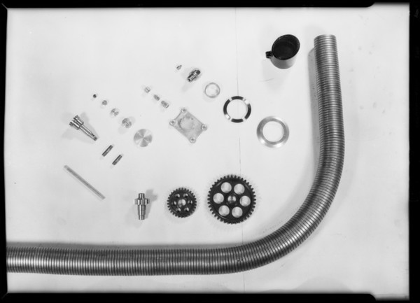 Parts of motor to match 1st photo, Axelson Machine Works, Southern California, 1929