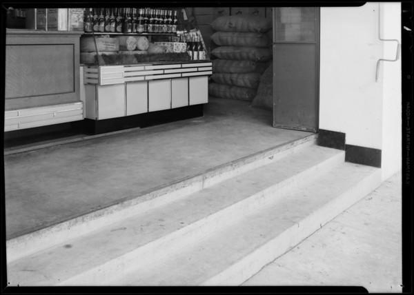 Entrance to Jess Willard's market, Southern California, 1931