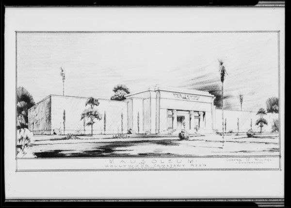 Hollywood Cemetery mausoleum, Southern California, 1931